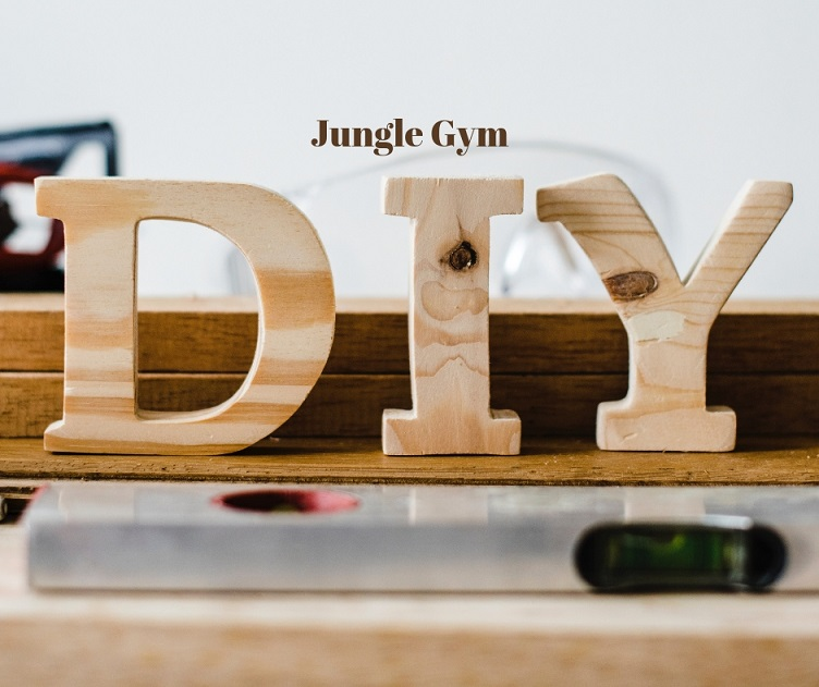 Treated Poles Jungle Gym