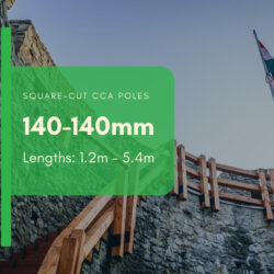 140-140mm Square Cut Poles