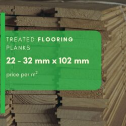 Treated Flooring Planks