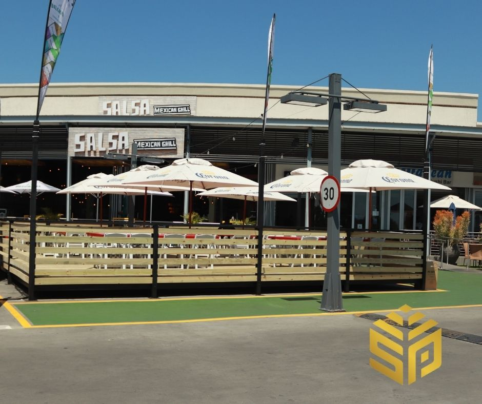 The CCA pressure treated deck for InniBos Illanga Mall